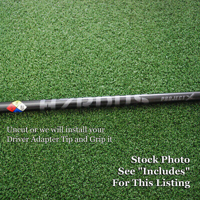 $109.95 • Buy Project X Golf HZRDUS Black Driver Shaft Uncut Or W/Adapter Tip & Grip - NEW