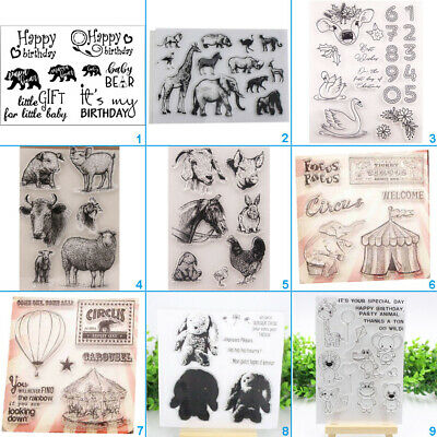 Animal Transparent Silicone Stamp Clear Cling DIY Album Scrapbooking Card Crafts • 2.91£