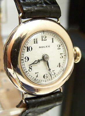 $ CDN1948.58 • Buy 1924 Rolex Extra Prima Antique Vintage Watch In Solid Gold Working Minty Dial