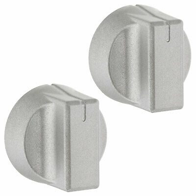 2 X Oven Cooker Hob Silver Control Knobs For New World 444447281, 444447283 • 10.99£