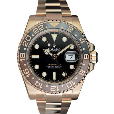 $ CDN54733.77 • Buy ROLEX - 2018 18kt Rose Gold GMT Master II Brown CERAMIC 126715 CHNR - SANT BLANC