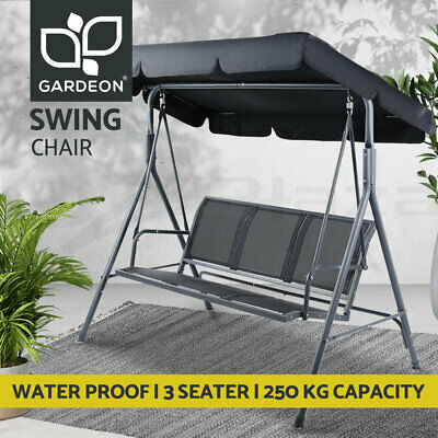 AU179 • Buy Gardeon Swing Chair Outdoor Furniture Lounge Garden Bench Patio 3 Seater Canopy