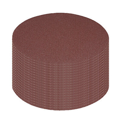 AU25.23 • Buy 20Pcs 7 Inch Hook And Loop Sanding Disc 100 Grits Flocking Sandpaper Brown