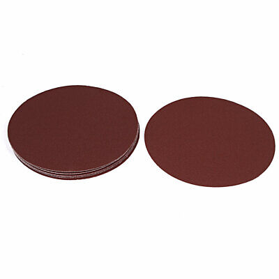 AU15.08 • Buy Dark Brown Abrasives 120 Grit Hook And Loop Sanding Sandpaper Disc 7  Dia 10PCS