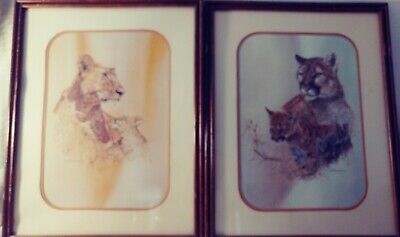 $ CDN63.12 • Buy Vintage Phil Prentice  28 X 24  A Leopard & Her Cub 1976 A Pair Set Of 2
