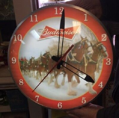 $ CDN250.58 • Buy BRADFORD EXCHANGE NUMBERED 779/10000 Budweiser Clydesdale Illuminated Wall Clock