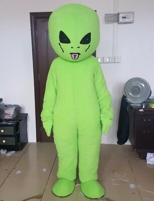 $169.18 • Buy Halloween Green Et Alien Mascot Costume Adults Cosplay Party Game Dress Outfits