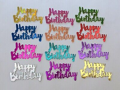 12 New 'happy Birthday' Holographic Card Toppers. • 1.50£