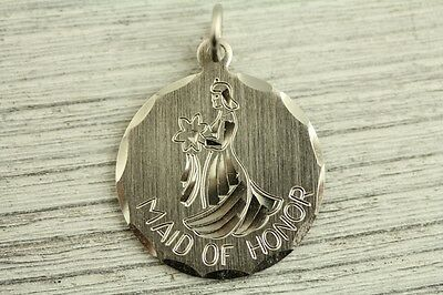$8 • Buy VINTAGE MAID OF HONOR DIAMOND CUT CHARM Sterling Silver 925 GREAT ONE FOR BRACEL