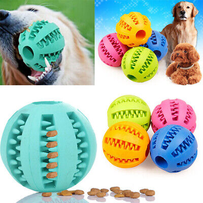 £3.30 • Buy Pet Dog Training Chew Play Fetch Bite Toys Indestructible Solid Rubber Ball Toy#