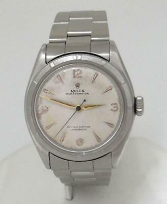 $ CDN3162.36 • Buy VINTAGE ROLEX OYSTER PERPETUAL BUBBLE BACK STAINLESS STEEL BUBBLE BACK 34mm 6085