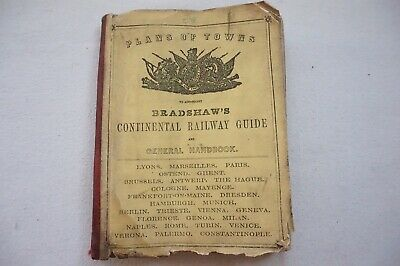 C1880s Bradshaws Cities Towns Plans Of Continental Europe - Railway Guide Maps • 74.99£