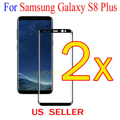 $ CDN3.41 • Buy 2x Full Cover Curved Clear Screen Protector Guard Film Samsung Galaxy S8 Plus