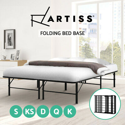 AU120.90 • Buy Artiss Folding Bed Frame KING SINGLE DOUBLE QUEEN Size Mattress Base Platform