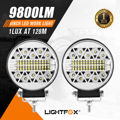 AU29.95 • Buy Pair 4Inch Led Driving Lights Round Work Spot Flood Work Driving Lamp Offroad