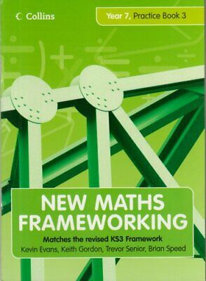 New Maths Frameworking - Year 7 Practice Book 3 (Le... By Speed, Brian Paperback • 5.99£