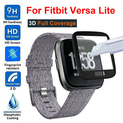 $ CDN6.69 • Buy Full Coverage Tempered Glass Screen Protector Case For Fitbit Versa Lite Watch
