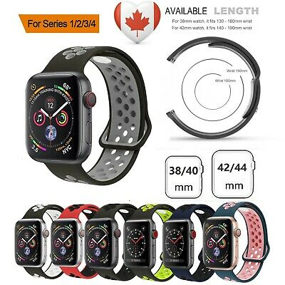 $ CDN8.99 • Buy Sports Silicone Apple Watch Strap Band Bracelet For Series 4 3 2 1 38/40/42/44mm
