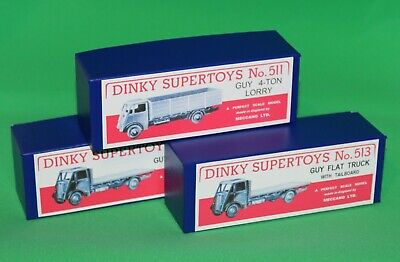 £19.99 • Buy DINKY Reproduction Box Set Of 3 511, 512, 513 Guy 4-Ton Lorry, Flat Truck,