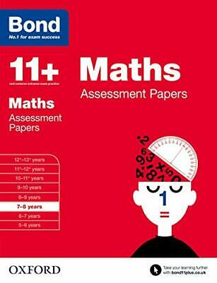 Bond 11+: Maths Assessment Papers: 7-8 Years By Bond 11+ Book The Cheap Fast • 7.98£