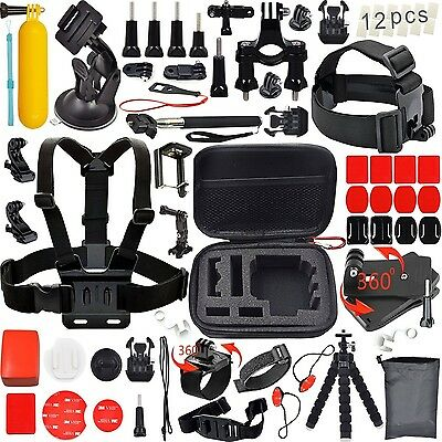 $ CDN43.88 • Buy Hero Bundle Black Accessories 31-in-1 Kit Essential GoPro Hero 7/6/5/4/3 Session