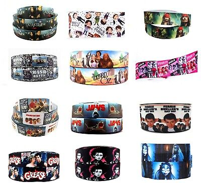 £2.99 • Buy 2 X Metres Film Musical Character Ribbon Hair Cake Craft 22mm - 25mm Polyester