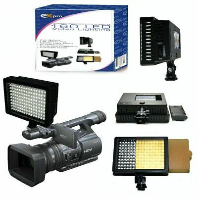 160 LED Camcorder Light For Canon Sharp Sanyo P@ JVC Sony & More • 25.92£