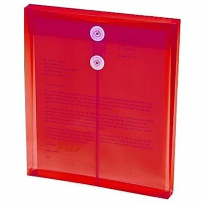 Smead 89547 Red Poly Envelopes With String-tie Closure - Letter - 8.50  X 11  - • 9.93£