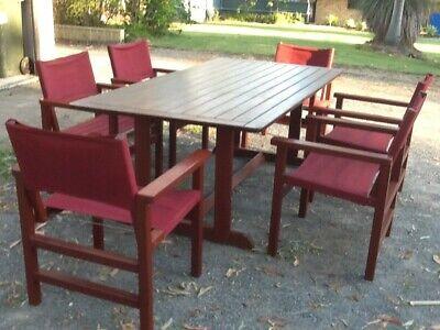 AU600 • Buy Kwila 7 Piece (6 Seater) Outdoor Setting - Excellent Condition - With Cover