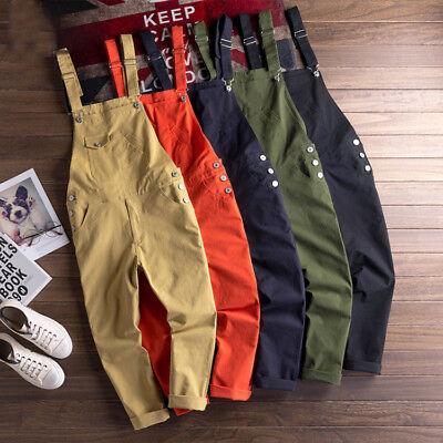 $37.69 • Buy Fashion Men's Casual Suspender Overalls Pants Jumpsuits Cotton Trousers Rompers