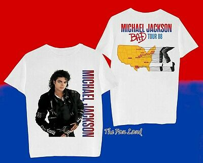 $24.95 • Buy New Michael Jackson Bad 1988 Tour Two Sided Vintage Mens T-Shirt