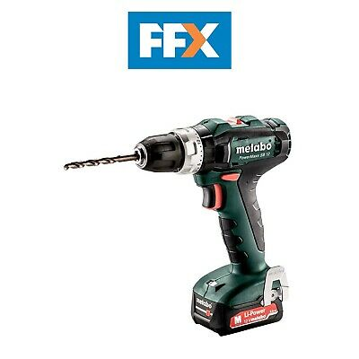 Metabo 601076500 12v 2x2.0Ah Li-ion Combi Hammer Drill In Case • 122.50£