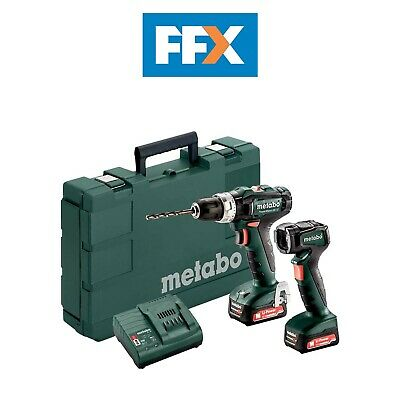 Metabo 601076900 12v 2x2.0Ah Li-ion Combi Drill/Torch Twin Kit In Case • 130£