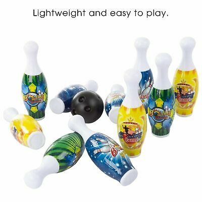 $18.99 • Buy Kids Bowling Game Set 10 Pins Indoor Outdoor Game 2 Balls Carry Tote Portable