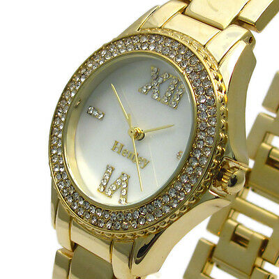 £21.99 • Buy Henley Ladies Sparkling Diamante Watch – Mother Of Pearl Face – Boxed #434