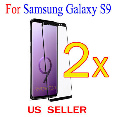 $ CDN3.43 • Buy 2x Full Cover Curved Clear Screen Protector Guard Film For Samsung Galaxy S9
