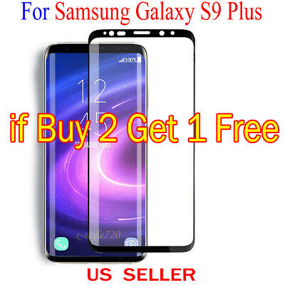 $ CDN2.14 • Buy Full Cover Curved Clear Screen Protector Guard Film For Samsung Galaxy S9 Plus