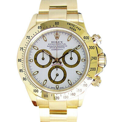 $ CDN46776.69 • Buy ROLEX Mens 40mm 18kt Yellow Gold DAYTONA White Index Fat Bucke 116528 SANT BLANC