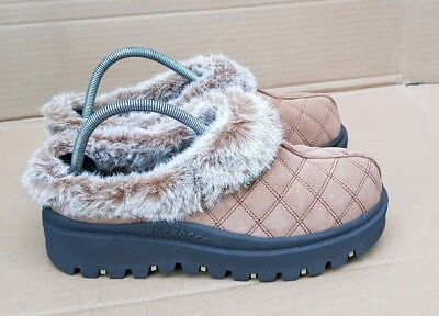 Brand New Skechers Chunky Sole Chestnut Fur Slip On Shoes Slippers Size 6.5 Uk • 75£