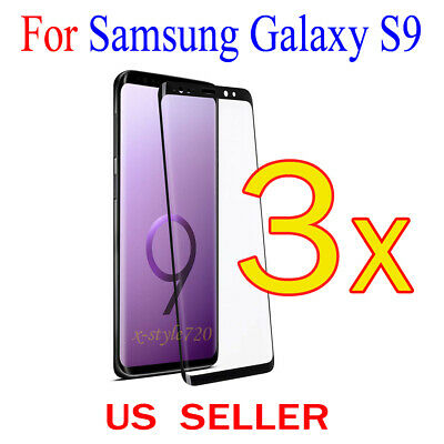$ CDN4.47 • Buy 3x Full Cover Curved Clear Screen Protector Guard Film For Samsung Galaxy S9