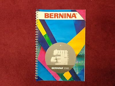 $29.95 • Buy Bernina 2000 Serger Instruction Book Guide Manual