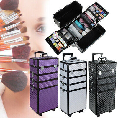 3/4 In 1 Multi-use Makeup Artists Cosmetics Trolley Train Case Makeup Organizers • 52.95£