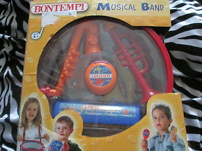 Bontempi Musical Band Toy Instruments Drum Castanets Harmonica Trumpet Maracas • 19.99£