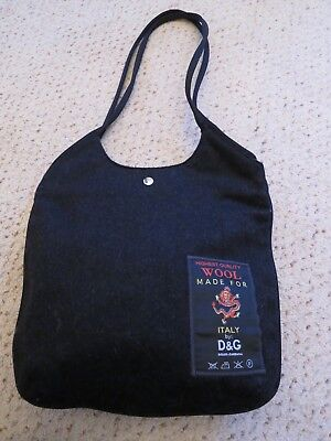 D&G Dolce & Gabbana Pure Wool Handbag - In Excellent Condition • 200£
