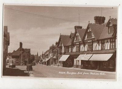 Burgess Hill From Station Hill Sussex Vintage RP Postcard 647b • 7.99£