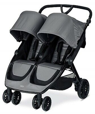 Britax B-Lively Lightweight Quick Fold Twin Baby Double Baby Dove NEW • 264.46£