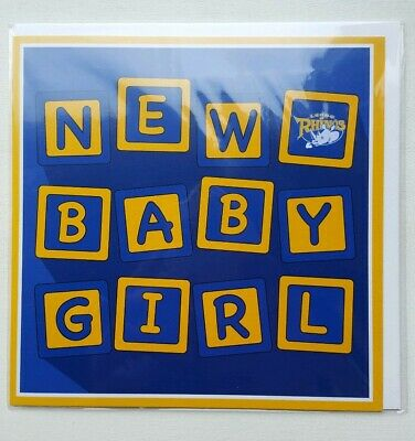 Official Leeds Rhinos - New Baby Girl Card - Brand New (Rugby League)  • 1.49£