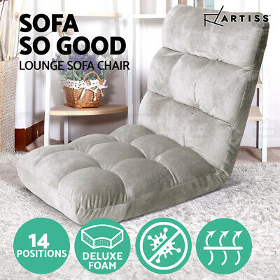 AU69.95 • Buy Artiss Lounge Sofa Bed Floor Recliner Futon Chaise Folding Couch Chair Grey