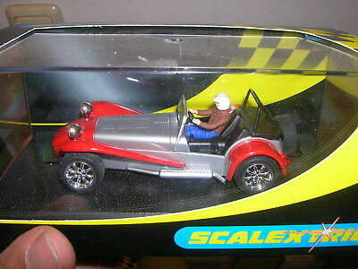 £55.73 • Buy Scalextric Slot Car 1:32 132 - C. 2201 Caterham 7 Silver/red - In Box