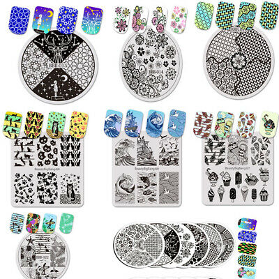 $7.29 • Buy BeautyBigBang Nail Art Image Stamp Template Plates US